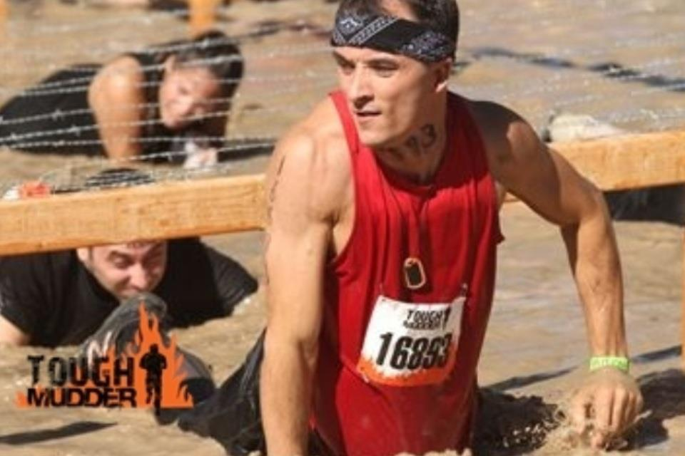 That's one Tough Mudder Fu#$er! This is just around the end of mile 1. 